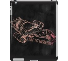 I Aim to Misbehave with Background iPad Case/Skin