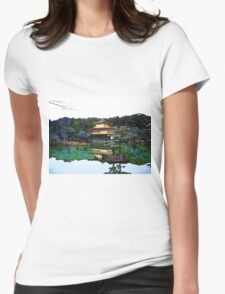 Zen Buddhist temple Kyoto Japan Womens Fitted T-Shirt