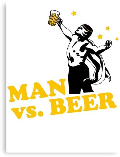 Man vs. Beer by loku