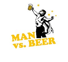 Man vs. Beer Photographic Print