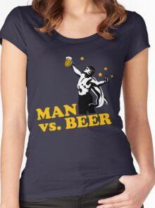 Man vs. Beer Women's Fitted Scoop T-Shirt