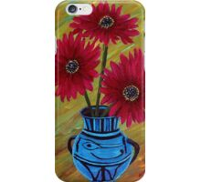 Blue vase with flowers/ still life  iPhone Case/Skin