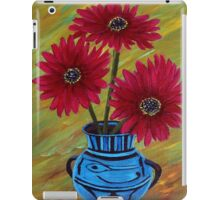 Blue vase with flowers/ still life  iPad Case/Skin