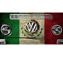 MEXICO flag - VW Photographic Print