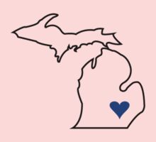 Michigan Love - Blue  One Piece - Long Sleeve