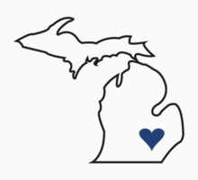 Michigan Love - Blue  Kids Clothes