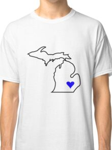 Michigan Love - Blue  Classic T-Shirt