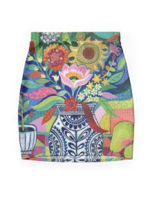 Late Summer Blooms Mini Skirt