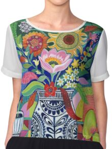 Late Summer Blooms Chiffon Top