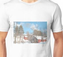 Snowy Winter Day Unisex T-Shirt