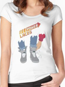Power Laces! Women's Fitted Scoop T-Shirt