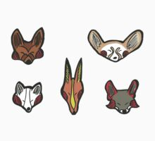 Cute Foxes - Set of 5 by StevieSketch