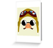 Porco Rosso - Marco Pagot face by AronGilli Greeting Card