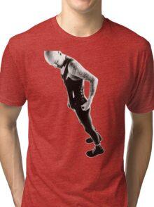 Leather 03 B&W Tri-blend T-Shirt