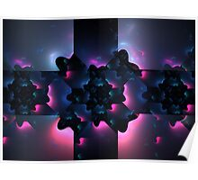 Periwinkle Stars Poster