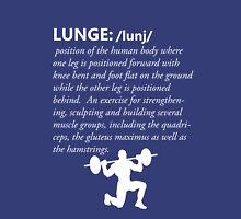 Lunge Definition - White Unisex T-Shirt