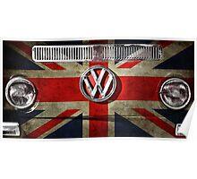 UK flag VW Poster