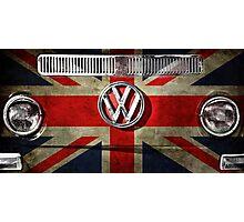 UK flag VW Photographic Print