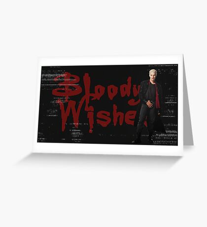 Spike -  Bloody Halloween Wishes Greeting Card