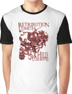 REVENGE, Four Horsemen of the Apocalypse, Durer, Retribution Cometh & Hell's Close behind! Biblical, Bible, Red Shadow on White Graphic T-Shirt