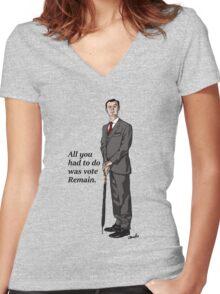 Mycroft Remain Women's Fitted V-Neck T-Shirt