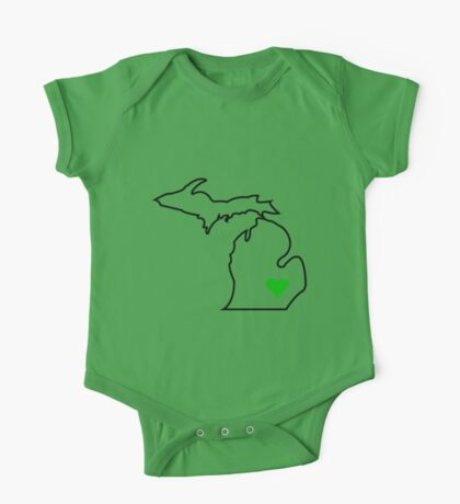 Michigan Love - Green  One Piece - Short Sleeve