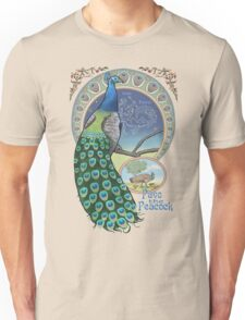 Pavo the Peacock Constellation Art Nouveau Style Unisex T-Shirt