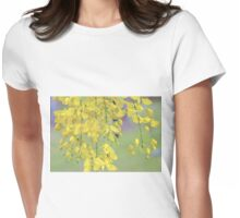 Golden Yellow Blossoms (Cassia Fistula Tree) Womens Fitted T-Shirt