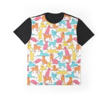 Colourful Labrador Pattern Graphic T-Shirt