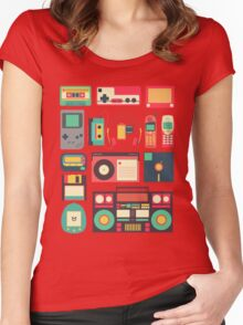 Retro Technology Women's Fitted Scoop T-Shirt