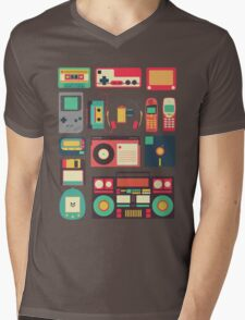 Retro Technology Mens V-Neck T-Shirt