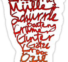 German World Cup Squad 2014 Sticker