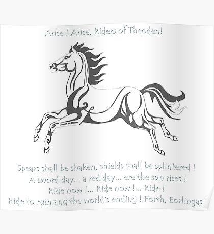 Ride Rohirrim ! Poster