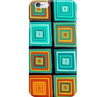 Hand drawn colorful funny squares  iPhone Case/Skin