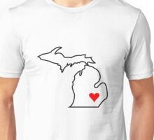 Michigan Love - Red Unisex T-Shirt