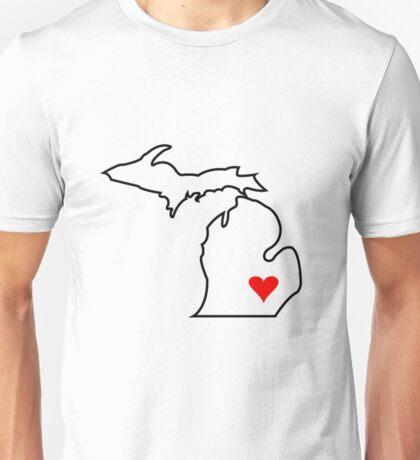 Michigan Love - Red Unisex T-Shirt