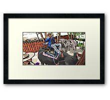 Elephant and Rider Framed Print