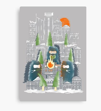 Camping in the City Canvas Print