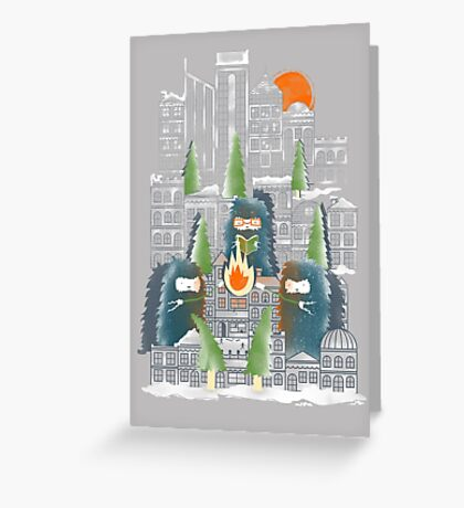 Camping in the City Greeting Card