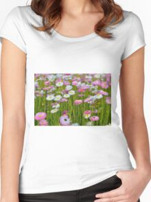 Flower pattern photograph Women's Fitted Scoop T-Shirt