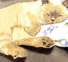 Sleeping Sealpoint Sticker