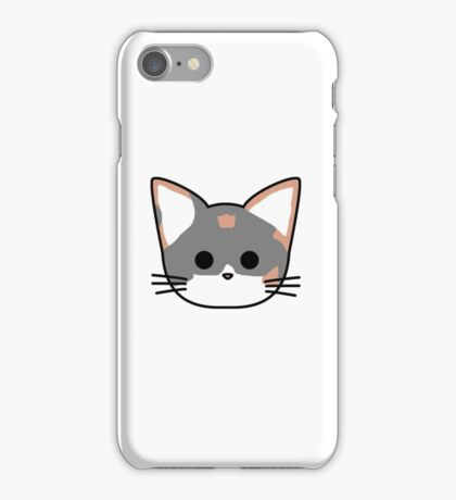 Clio Cat Head - White iPhone Case/Skin
