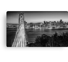 San Francisco Skyline in Black & White Canvas Print