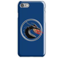 DRAGON, HEAD, Fire, Breathing, CIRCLE, SYMBOL, NAVY, BLUE iPhone Case/Skin