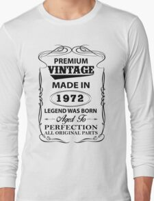 Premium Vintage 1972 Aged To Perfection Long Sleeve T-Shirt