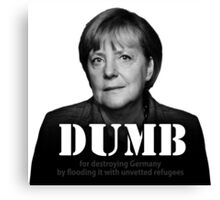 Dumb Merkel Canvas Print