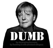 Dumb Merkel Photographic Print