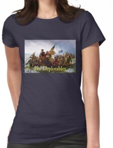 Les Deplorables Crossing the Delaware Womens Fitted T-Shirt