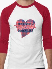This is what a FEMINIST looks like Men's Baseball ¾ T-Shirt