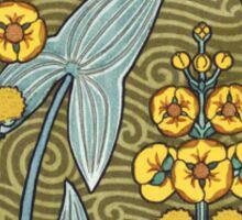 Retro Floral art Sticker